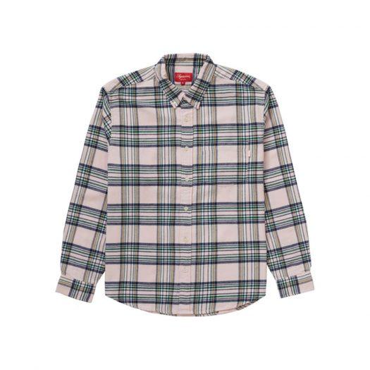 Supreme Tartan Flannel Shirt Pale Pink