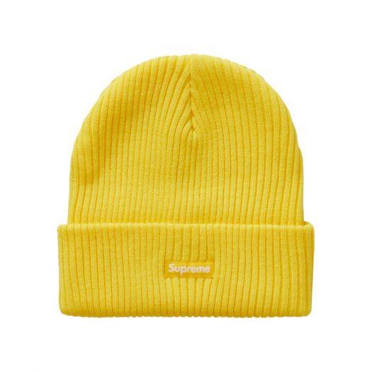 Supreme Wide Rib Beanie Yellow