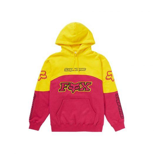 Supreme Fox Racing Hooded Sweatshirt Pink