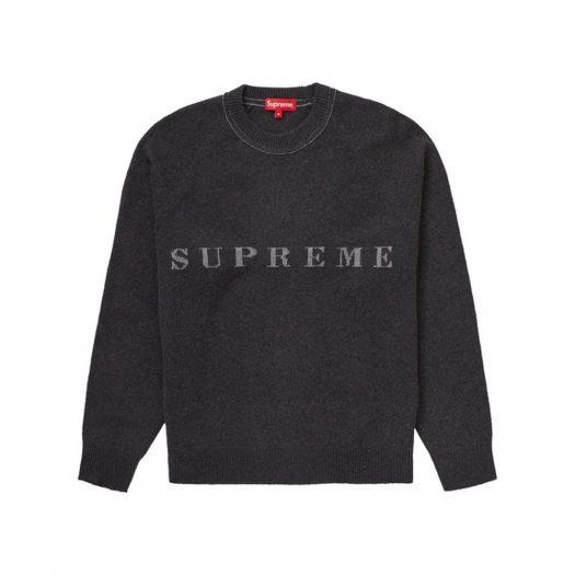 Supreme Stone Washed Sweater Black