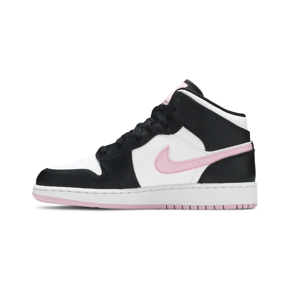 Jordan 1 Mid White Black Light Arctic Pink (GS)
