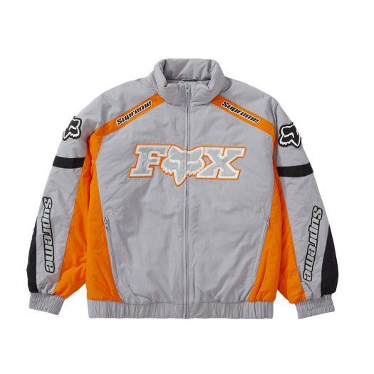 Supreme Fox Racing Puffy Jacket Grey