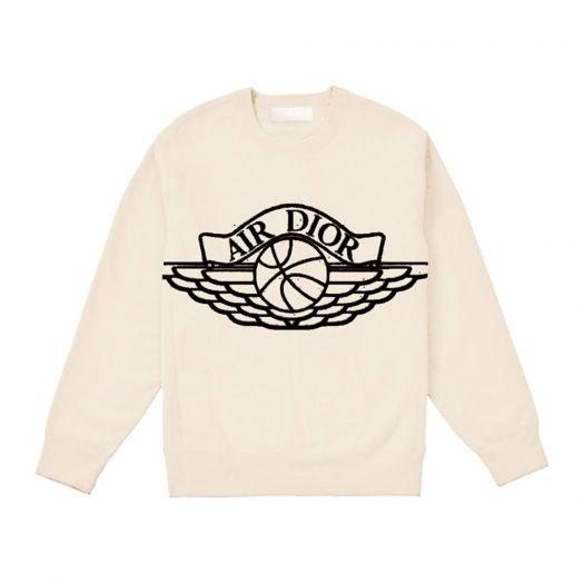 Dior x Jordan Wings Sweater Natural