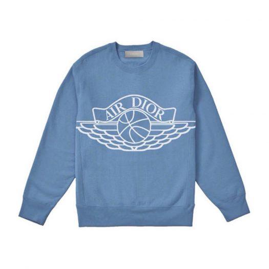 Dior x Jordan Wings Sweater Blue