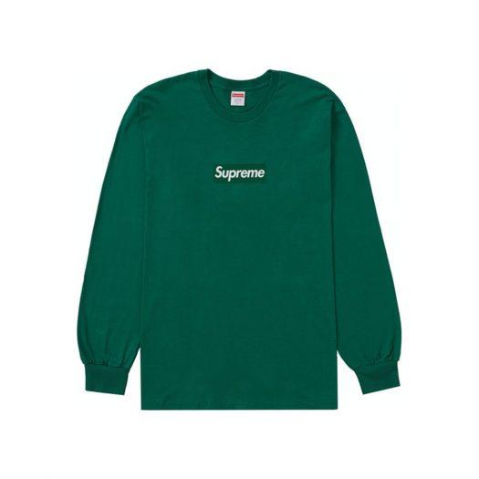 Supreme Box Logo L/S Tee Light Pine