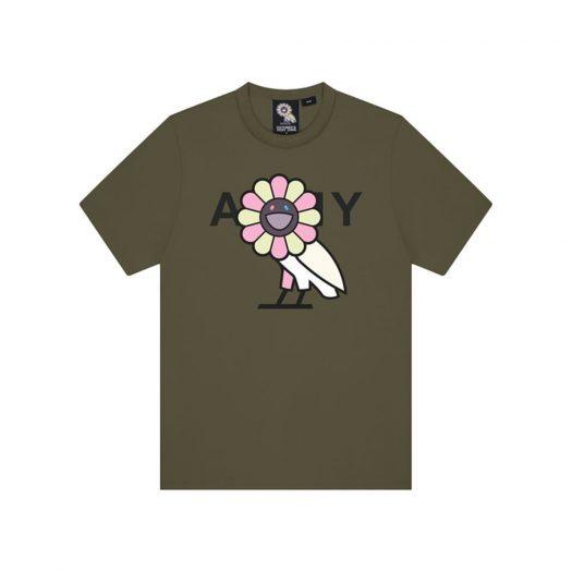Takashi Murakami x OVO Surplus Flower Owl Tee Military Green
