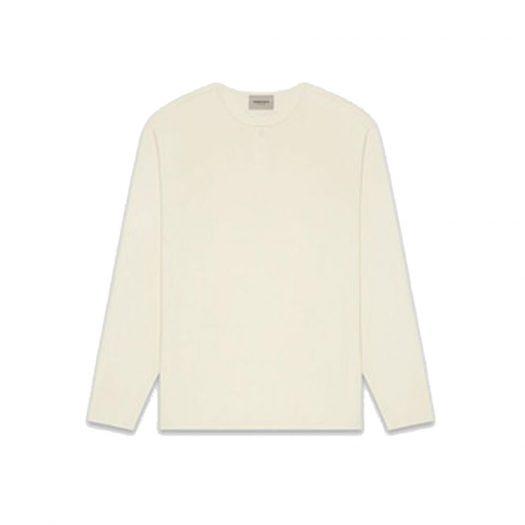 Fear Of God Essentials Thermal Longsleeve Henley T-shirt Cream