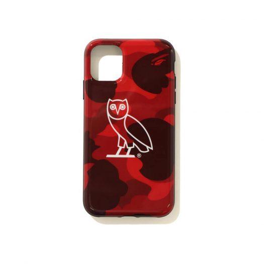 Bape X Ovo Color Camo Iphone 11 Pro Case Red