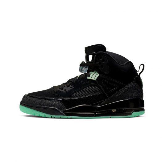 Jordan Spizike Black Green Glow