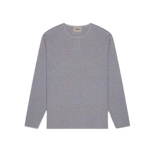 Fear Of God Essentials Thermal Longsleeve Henley T-shirt Heather Grey