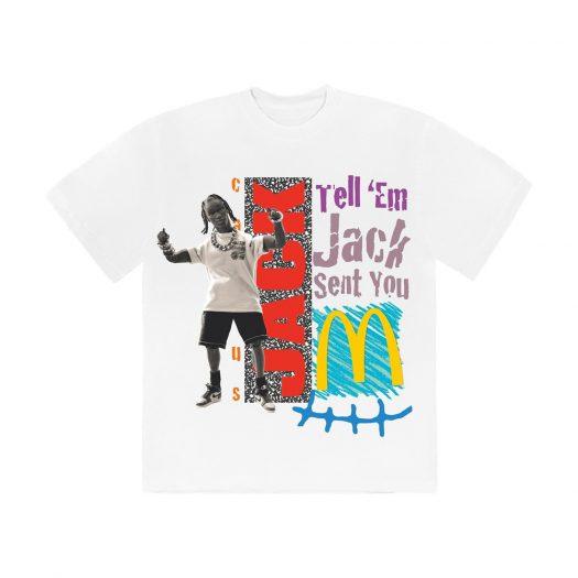 Travis Scott x McDonald's Jack Smile T-Shirt White