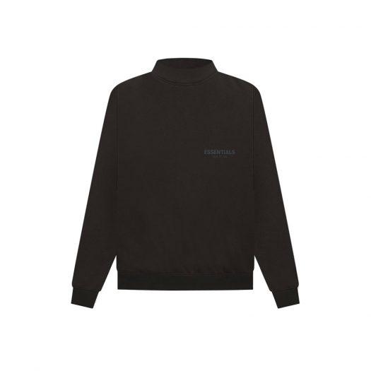 Fear Of God Essentials Pull-over Mockneck Sweatshirt Weathered Black