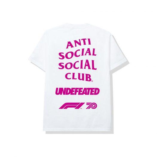 Anti Social Social Club UNDFTD X F1 Tee White