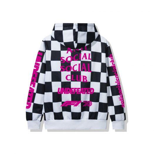 Anti Social Social Club UNDFTD X F1 Hoodie Checkered
