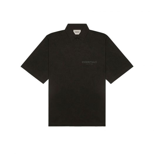 Fear Of God Essentials Short Sleeve Boxy Polo Weathered Black