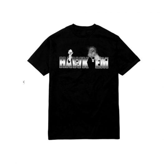 Pop Smoke x Vlone Hawk Em' Tee Black