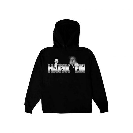 Pop Smoke x Vlone Hawk Em' Hoodie Black