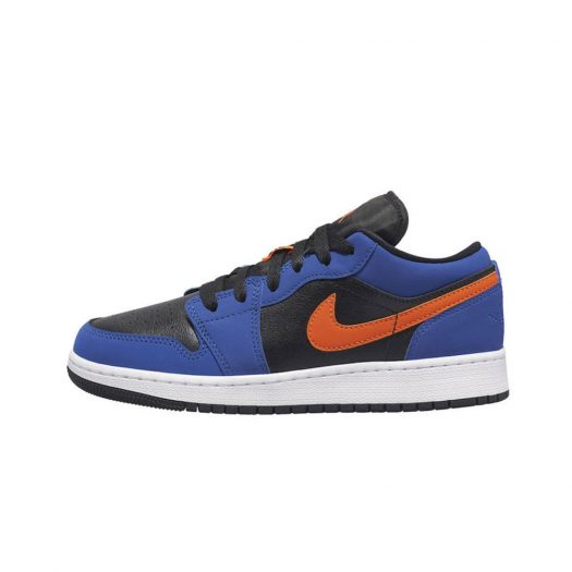 Air Jordan 1 Low Black Blue Orange (GS)