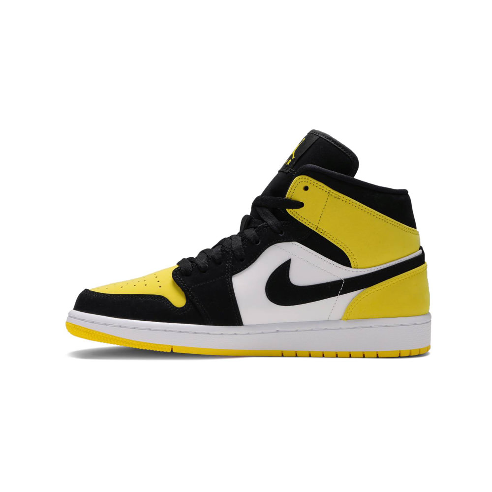 Air Jordan 1 Mid Yellow Toe Black