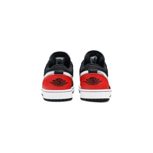 Jordan 1 Low Brushstroke Swoosh Black