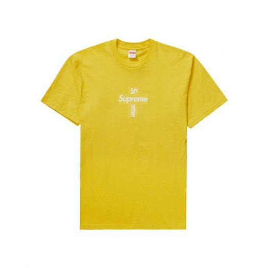 Supreme Cross Box Logo Tee Yellow