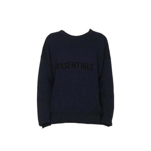 Fear Of God Essentials X Ssense Knit Sweater Dark Navy