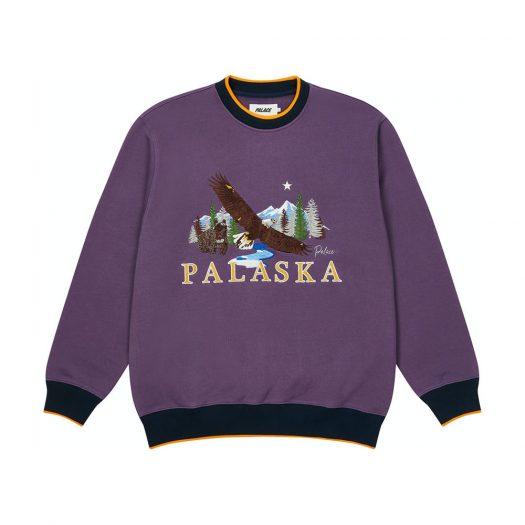 Palace Palaska EMB Crew Purple