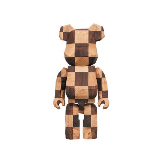 Bearbrick Karimoku fragmentdesign 400% Polygon Chess 400% Wood