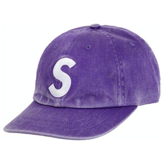 Supreme Pigment Print S Logo 6-Panel Purple