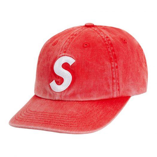 Supreme Pigment Print S Logo 6-Panel Red