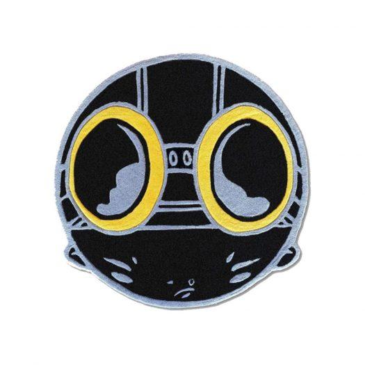 Hebru Brantley Flyboy Rug Black/Gold