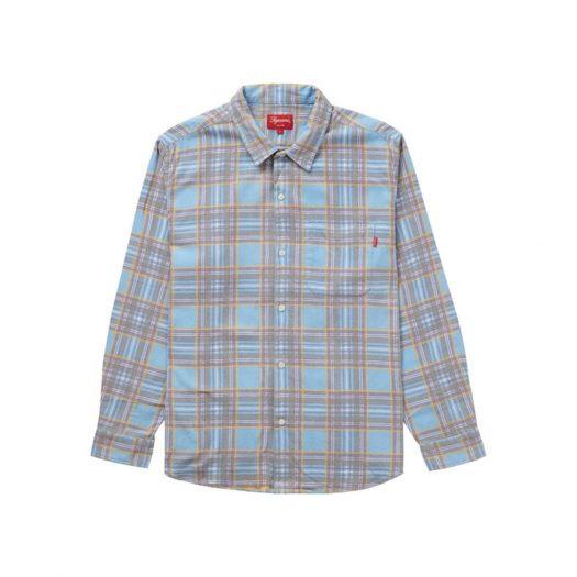 Supreme Printed Plaid Shirt Light Blue