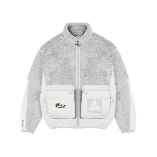 Palace Polartec High-Loft Teddy Fleece Jacket Light Grey
