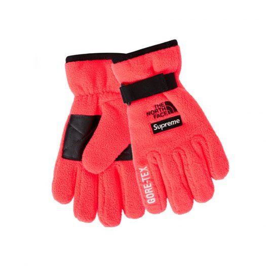 Supreme The North Face RTG Fleece Glove Bright Red