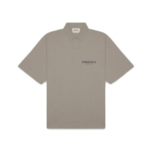 Fear Of God Essentials Short Sleeve Boxy Polo Taupe