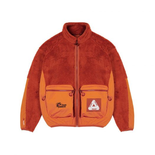 Palace Polartec High-Loft Teddy Fleece Jacket Pumpkin