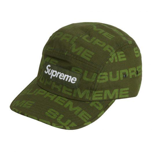 Supreme Reactive Print Camp Cap Olive