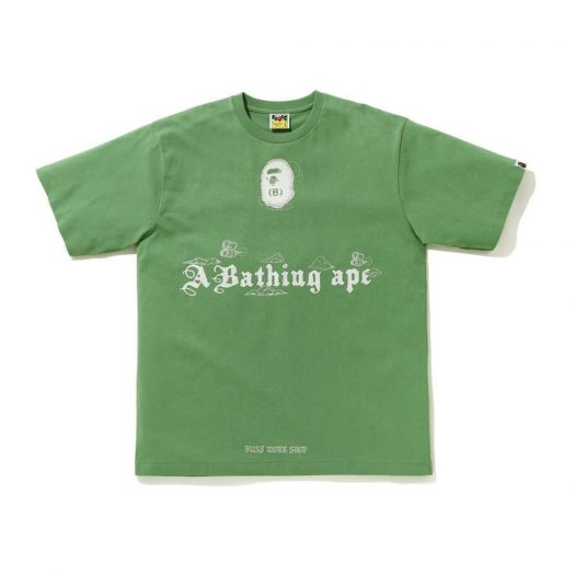 Bape Ink Print Relaxed Fit #2 Tee Green