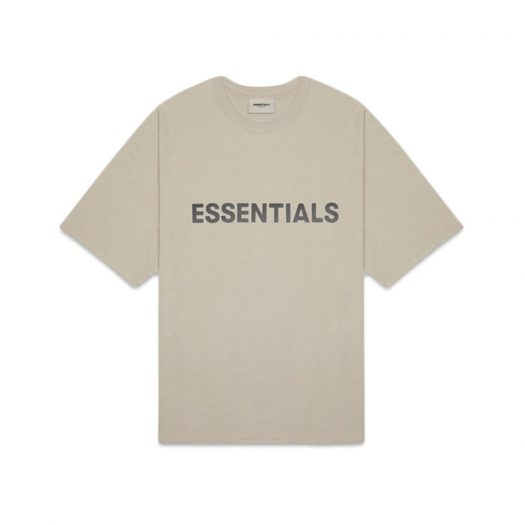 Fear Of God Essentials 3d Silicon Applique Boxy T-shirt Olive/khaki
