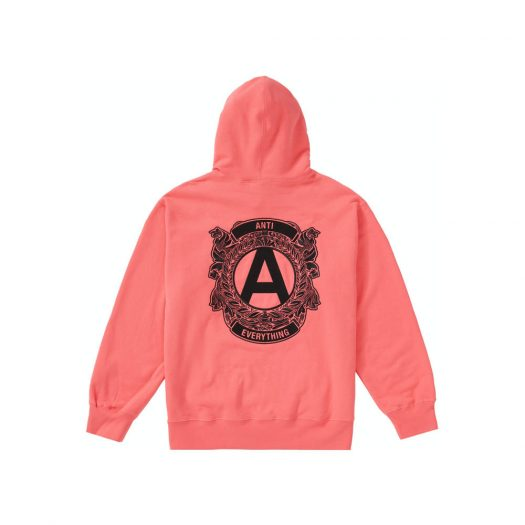Supreme Anti Hooded Sweatshirt Bright Coral