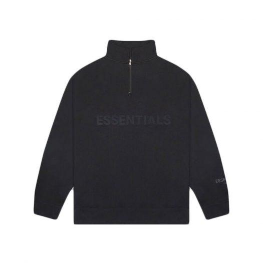 Fear Of God Essentials Half Zip Pullover Sweater Dark Slate/stretch Limo/black