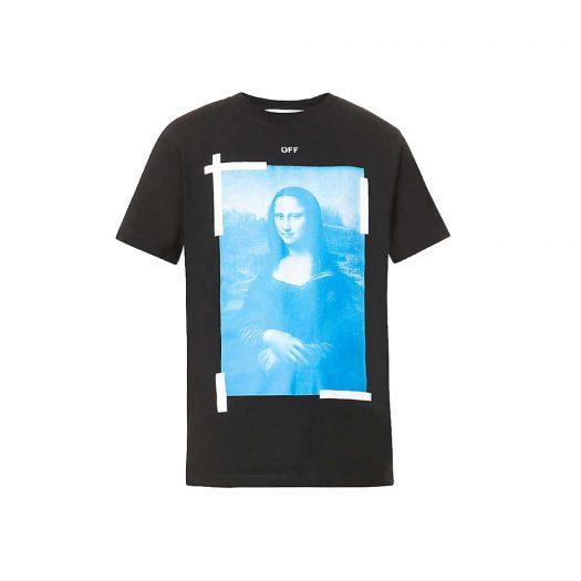 Off-white C/o Virgil Abloh Mona Lisa Graphic-print Cotton-jersey T-shirt