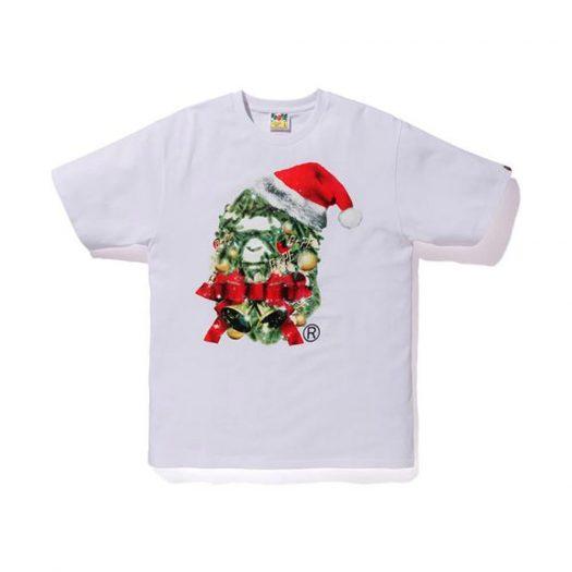 Bape Christmas Ape Head Tee White
