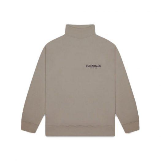 Fear Of God Essentials Pull-over Mockneck Sweatshirt Taupe
