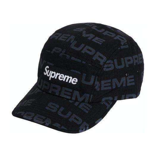Supreme Reactive Print Camp Cap Black