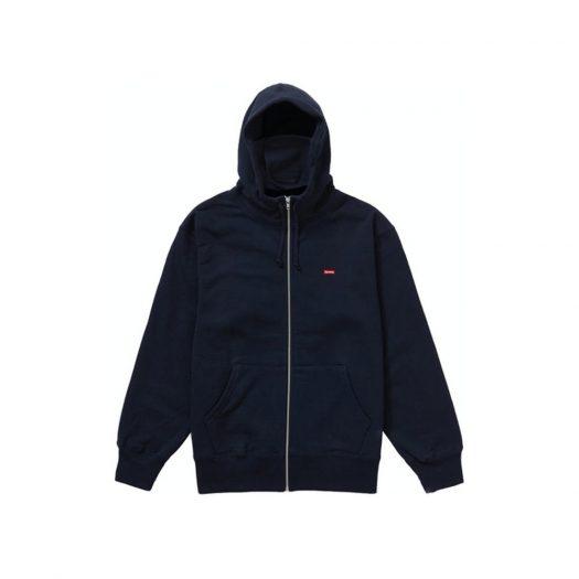 Supreme Small Box Facemask Zip Up Hooded Sweatshirt Navy