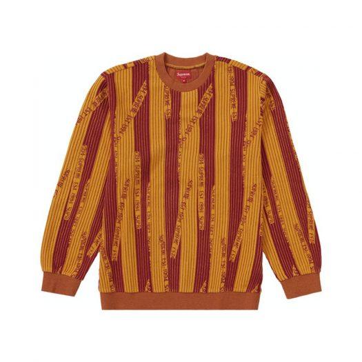 Supreme Textured Stripe Crewneck Yellow