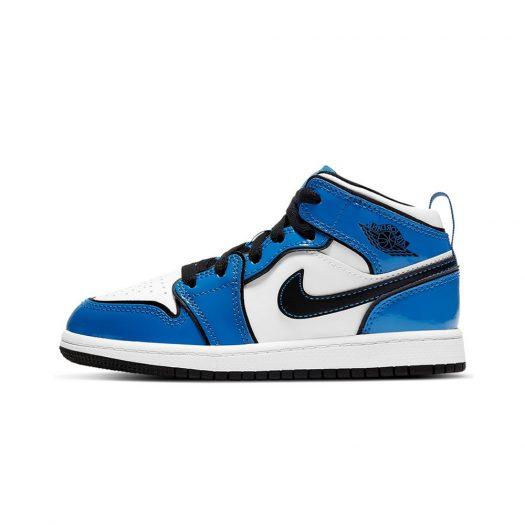 Jordan 1 Mid Signal Blue (PS)
