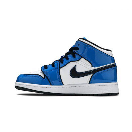 Jordan 1 Mid Signal Blue (GS)