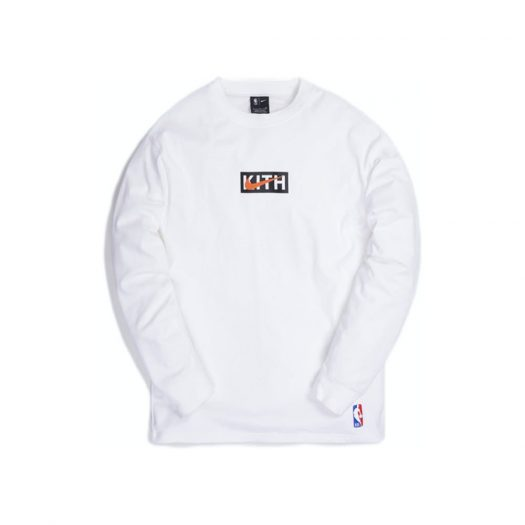 Kith & Nike for New York Knicks L/S Tee White